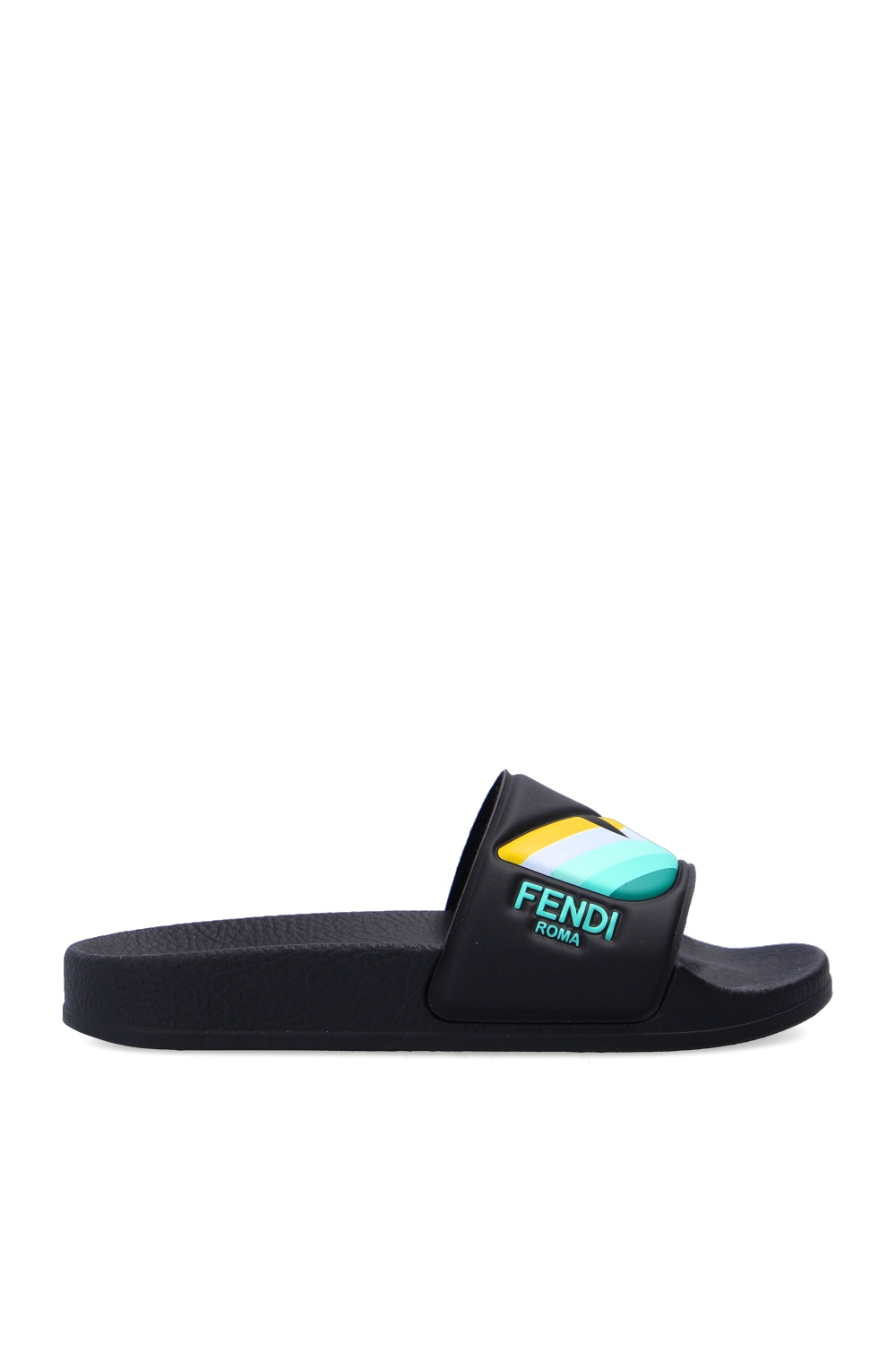 Fendi Kids Rubber slides with logo