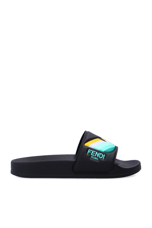 Fendi Kids Rubber slides with logo