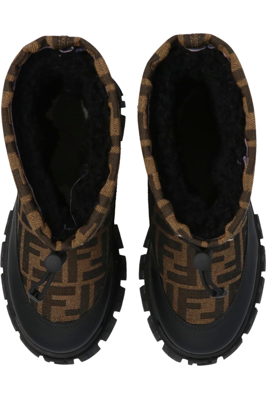 Fendi Kids Snow boots with logo