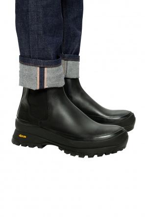 Leather platform boots od JIL SANDER