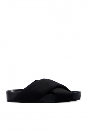 Slides with logo od JIL SANDER