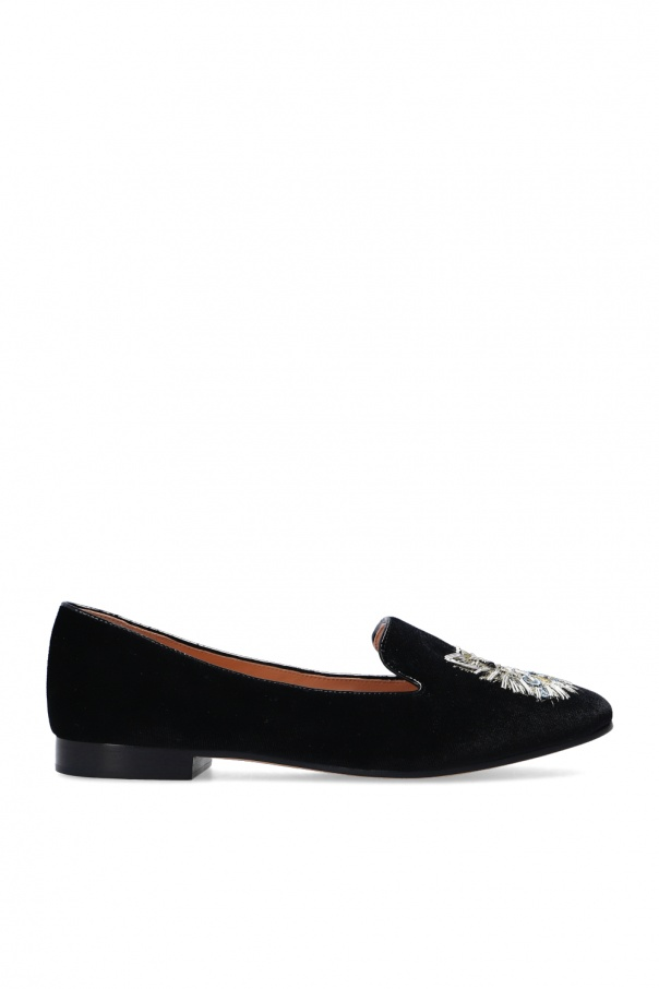 Kate Spade Velour loafers