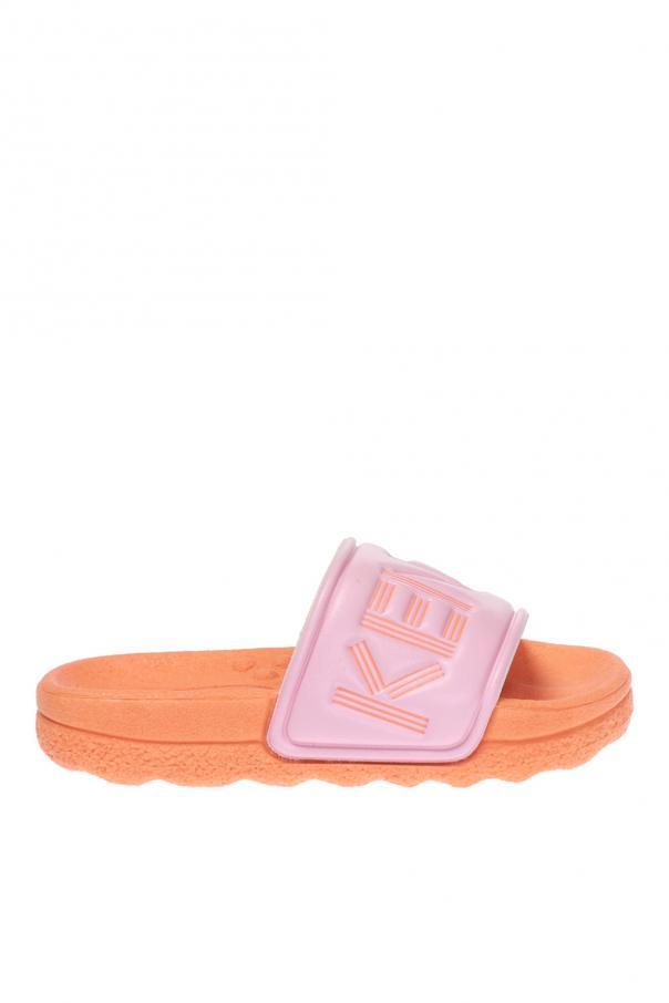 7f00c0bd13b50 Klapki z wytłoczonym logo Kenzo Kids - sklep internetowy Vitkac