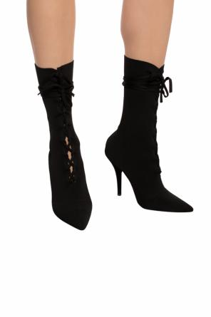 Heeled boots with sock od Yeezy