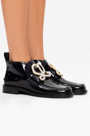 Patent leather boots with logo od Loewe