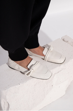 'flamenco' leather loafers od Loewe