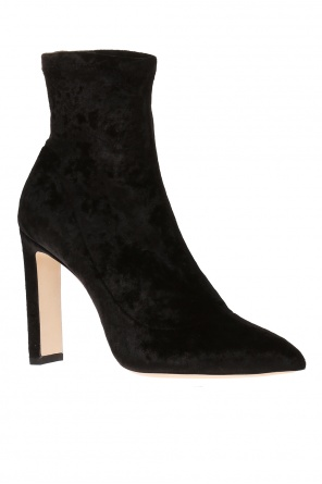 'louella' heeled ankle boots with sock od Jimmy Choo