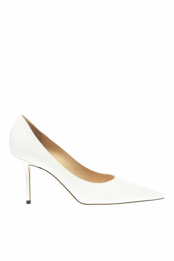 'love' leather stiletto pumps od Jimmy Choo