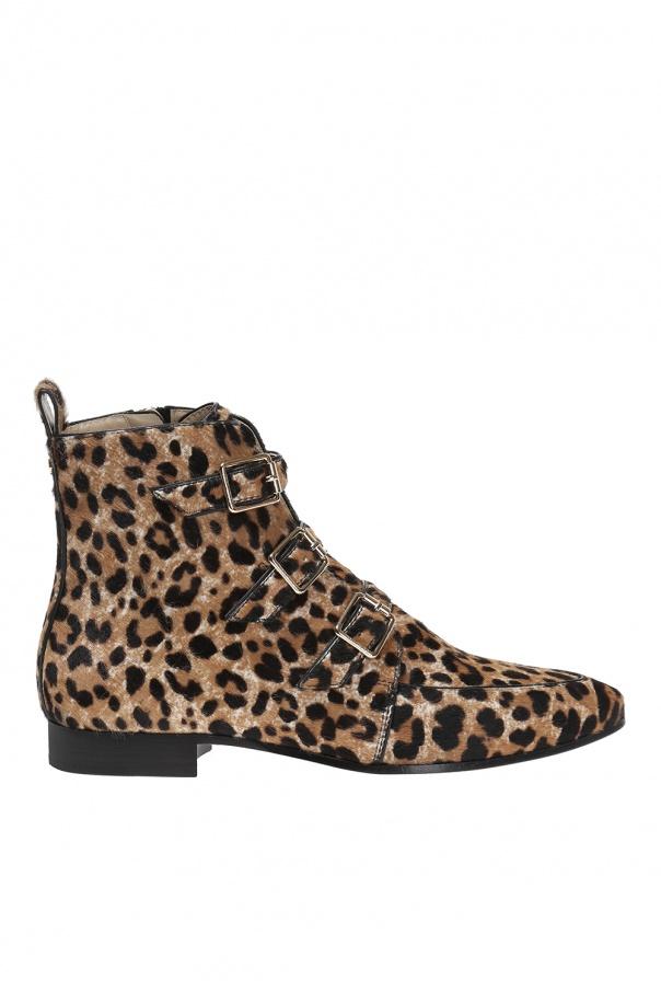 e7ba8cb1be3 Leopard print leather ankle boots Jimmy Choo - Vitkac shop online