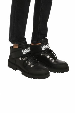 Logo-printed boots od Moschino