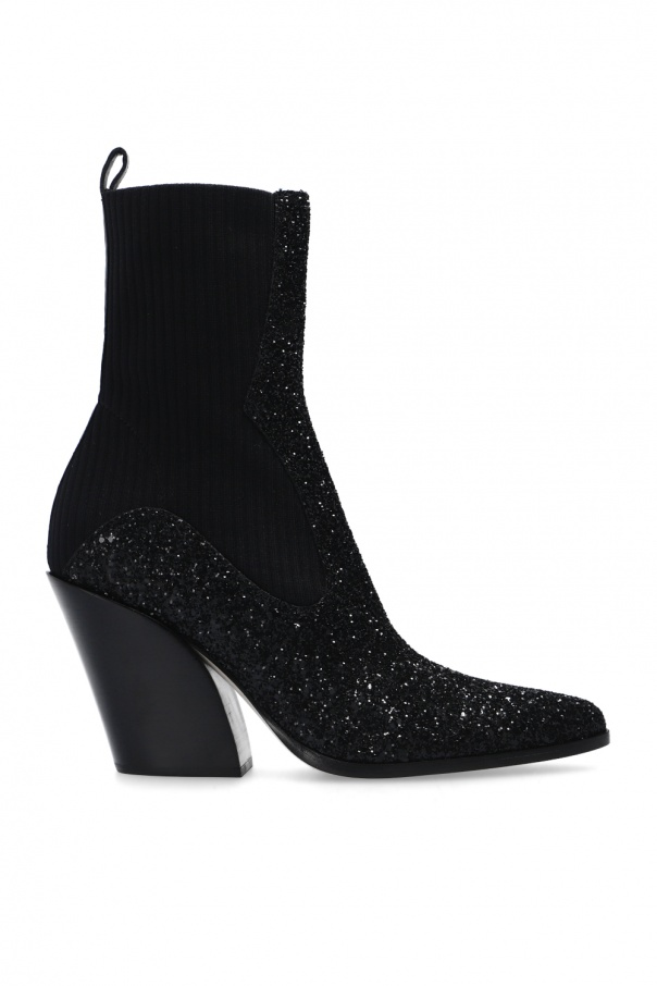 Jimmy Choo 'Mele' knitted ankle boots