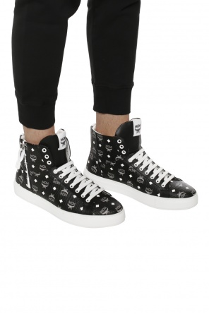 Patterned high-top sneakers od MCM