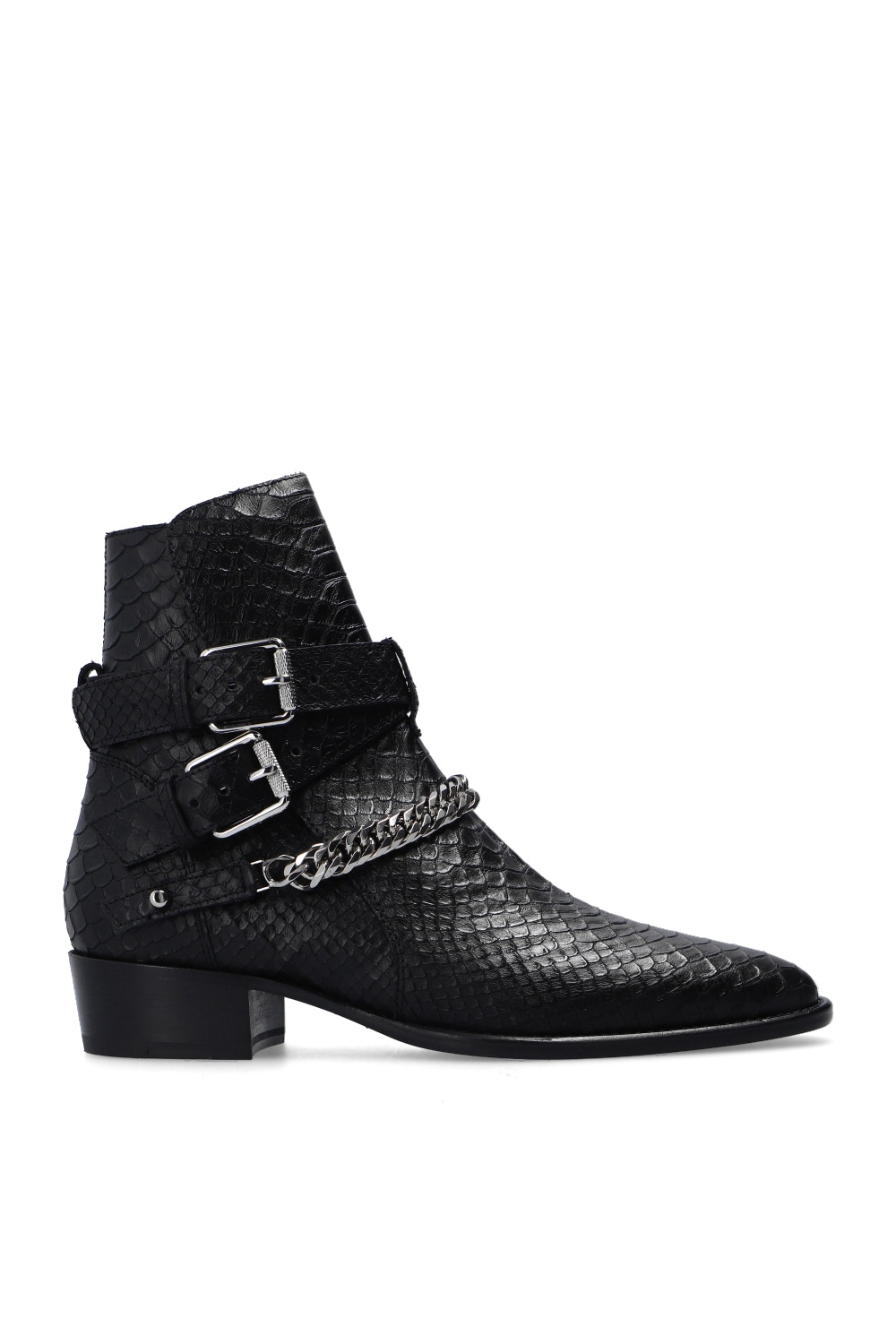 Amiri Leather ankle boots