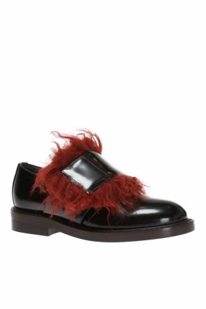Fur-trimmed shoes od Marni