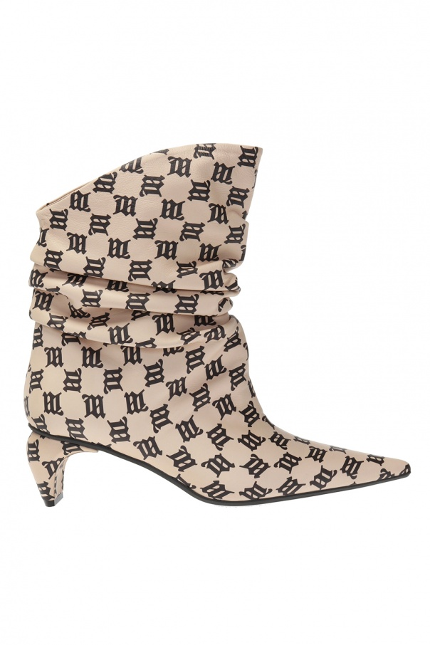 MISBHV Ankle boots with monogram