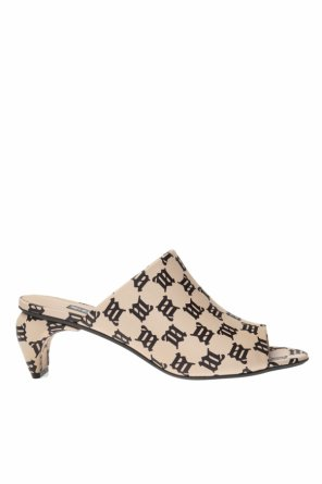 Heeled mules with monogram od MISBHV