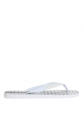 'all over plein' logo flip-flops od Philipp Plein