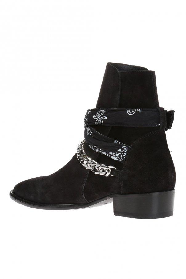Bandana-strap ankle boots od Amiri
