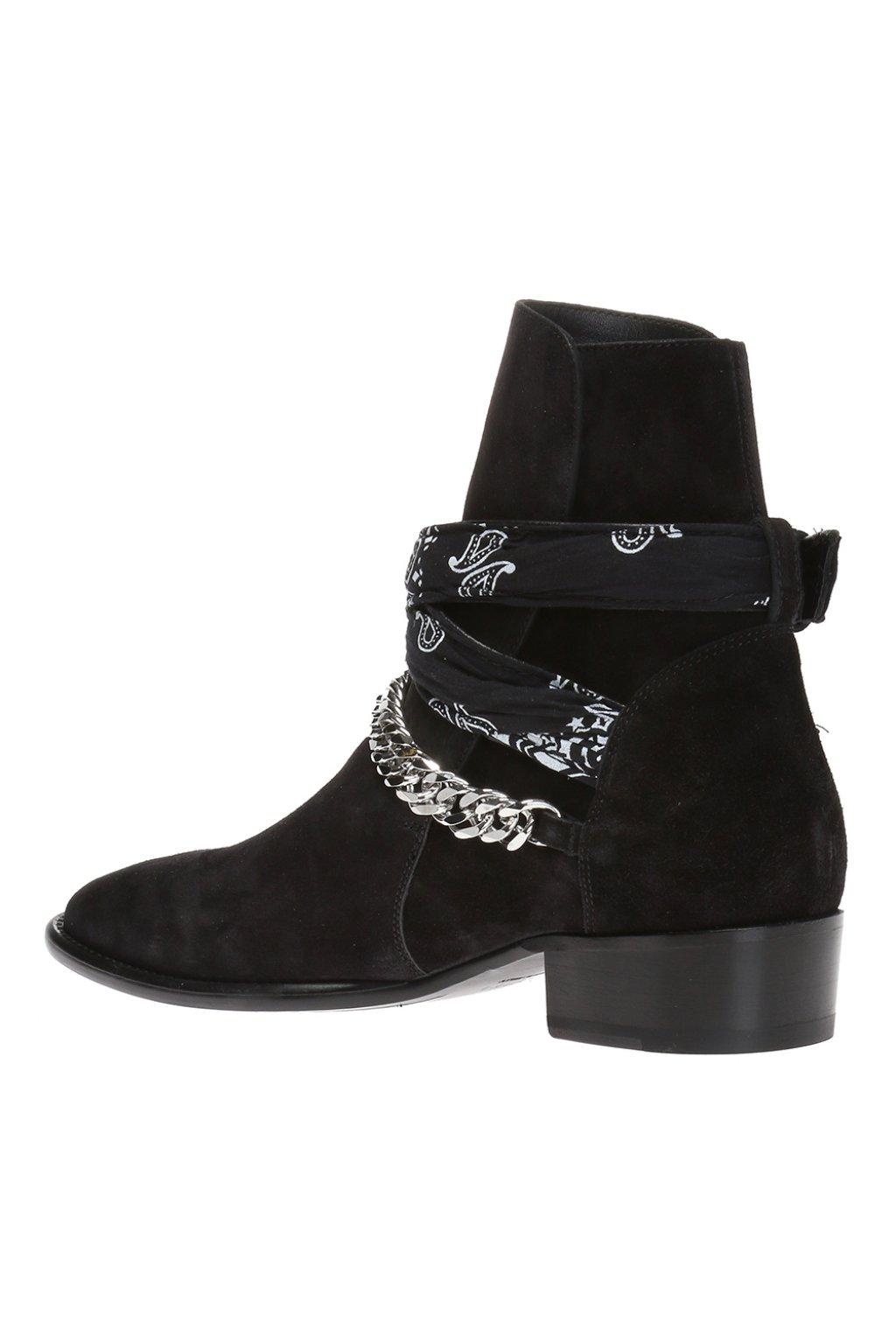 Amiri Bandana-strap ankle boots