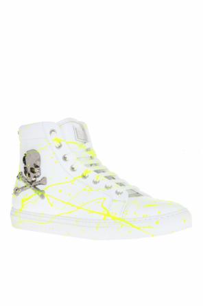 Paint-splatter high-top sneakers od Philipp Plein