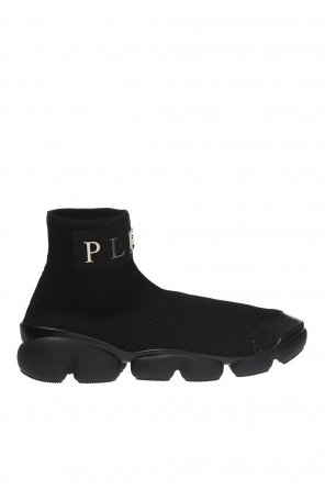 High-top sneakers with woven sock od Philipp Plein