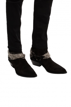Ankle shoes with chains od Amiri