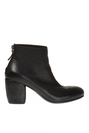 Leather heeled ankle boots od Marsell