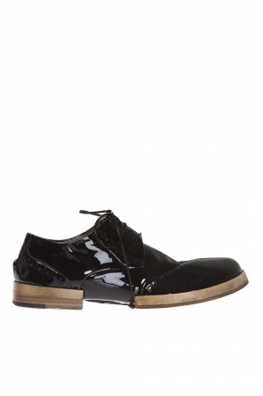 Patent lace-up shoes od Marsell