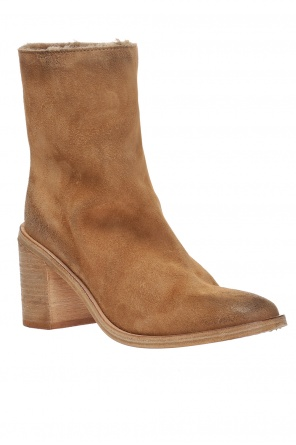 Padded boots on block heel od Marsell