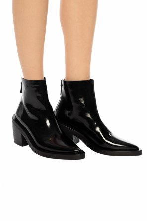 Heeled leather ankle boots od Marsell