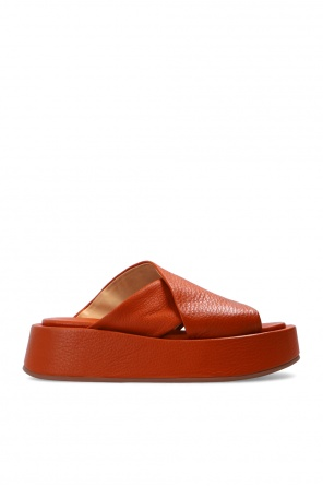 Leather platform slides od Marsell