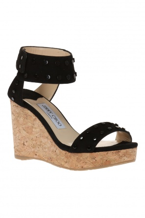 'nelly' suede wedge sandals od Jimmy Choo