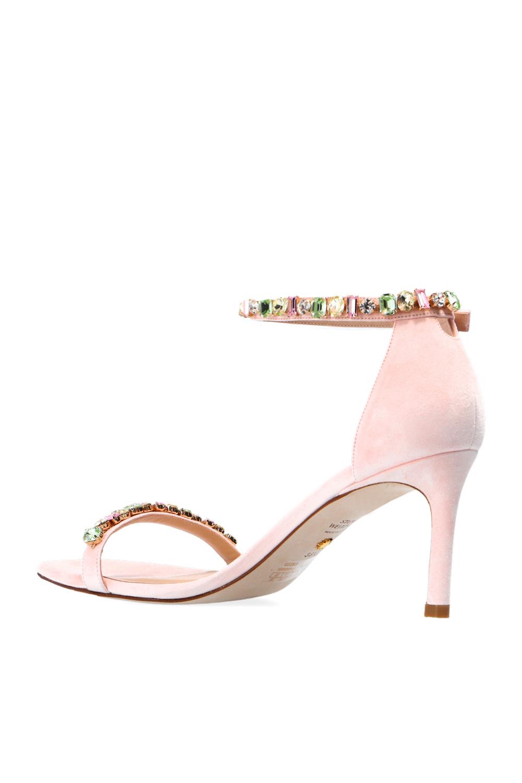 Stuart Weitzman 'Nunakedstraight' heeled sandals
