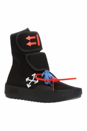 High-top sneakers with arrows motif od Off White