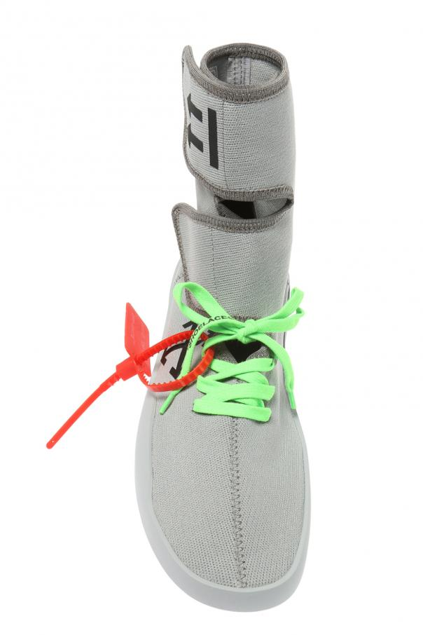 'moto wrap' sock sneakers od Off White