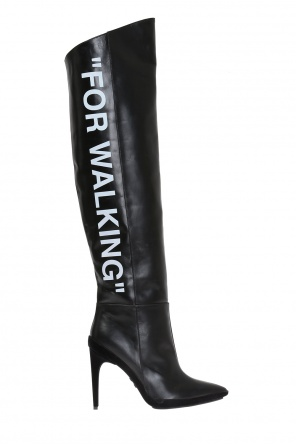 'for walking' over-the-knee boots od Off White
