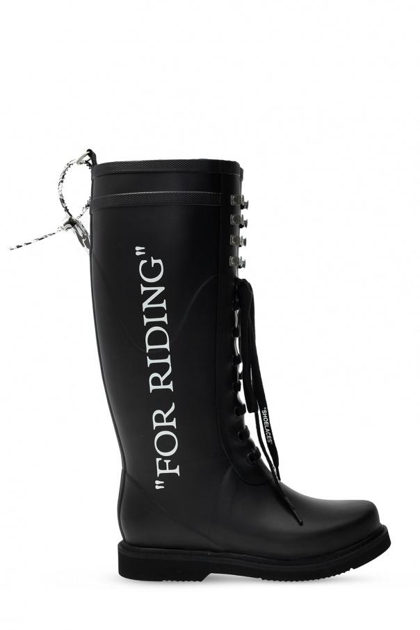 Off-White Printed rain boots