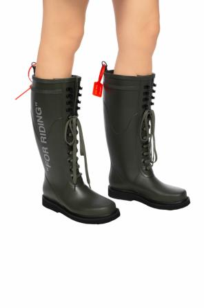 'for riding' wellington boots od Off White