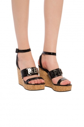 Wedge sandals with logo od Philipp Plein