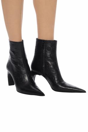 'pat' leather ankle boots with logo od MISBHV