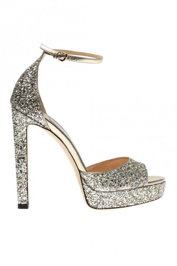 9a2a1c91cb Pattie' glittered platform sandals Jimmy Choo - Vitkac shop online