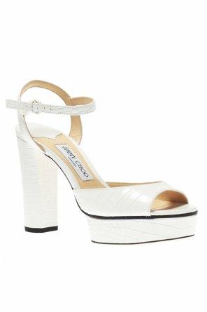 93b2eb2e4e1  peachy  leather platform sandals od Jimmy Choo   ...