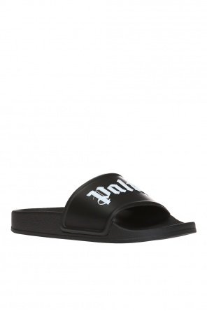 Logo-embossed slides od Palm Angels