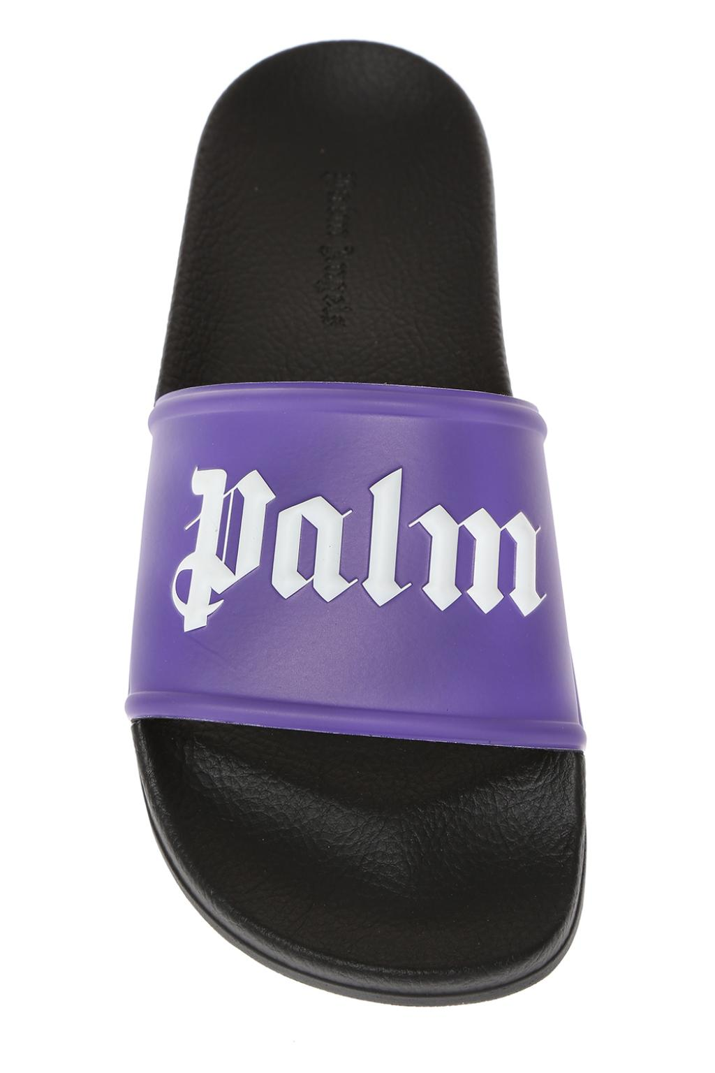 Palm Angels Logo-embossed sliders