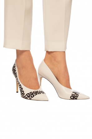 Branded leather stiletto pumps od Dsquared2