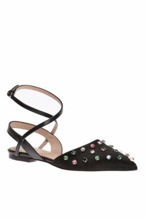 Sandals encrusted with stones od Valentino Red
