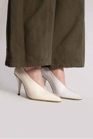 Leather stiletto pumps od Marni