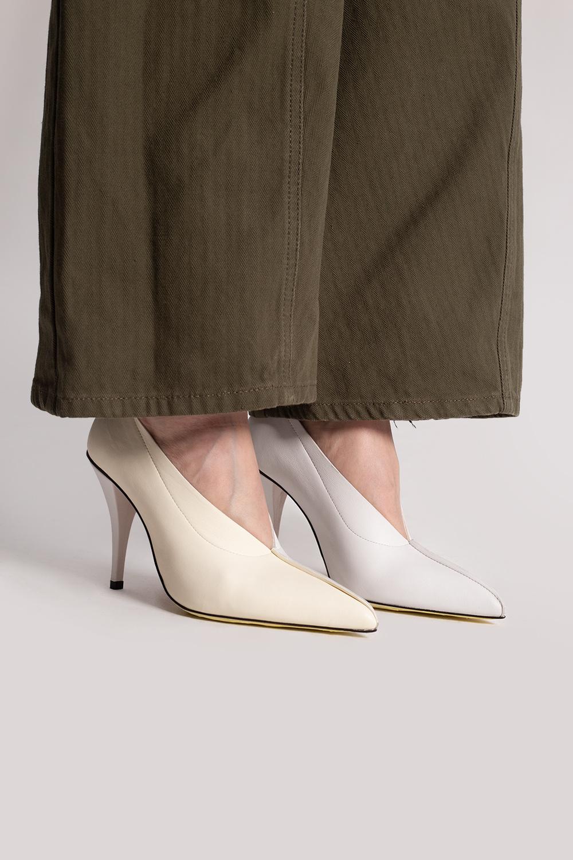Marni Leather stiletto pumps