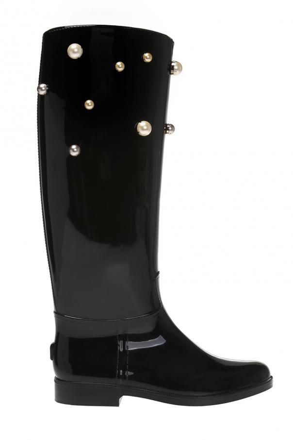 Studded rain boots Red Valentino - Vitkac shop online 95933de52c43e