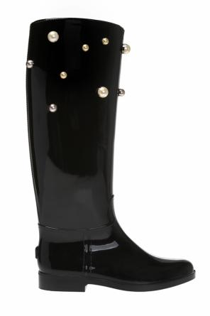 Studded rain boots od Valentino Red